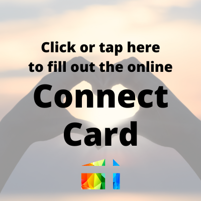 connect card, check in for worship, sign-in card