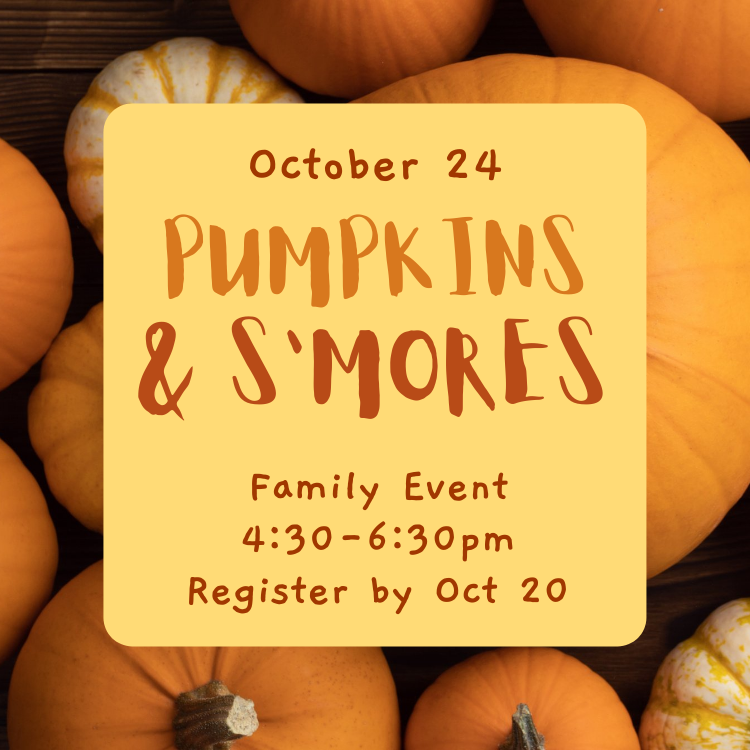 pumpkins s'mores family event youth children